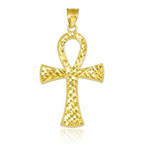 0k Yellow Gold Egyptian Ankh Cross Gold Pendant