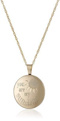 "14k Yellow Gold-Filled ""You Are My Sunshine"" Locket Necklace"