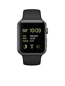 Apple Watch Series 1 Sport 42mm Space Gray Aluminum Case with Black Sport Band by Apple