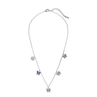 Buyless Fashion Stainless Steel Colorful Butterfly Charm Necklace For Girls-Teens