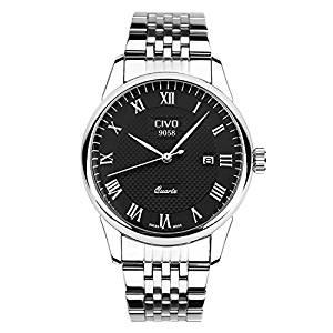 CIVO Men's Luxury Date Calendar Wrist Watches Men Casual Business Dress Waterproof Watch Simple Design Fashion Classic Analogue Quartz Watches for Men