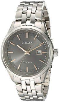 Citizen Men's 'Eco-Drive Dress' Quartz Stainless Steel Watch, Color:Silver-Toned (Model: BM7251-53H)
