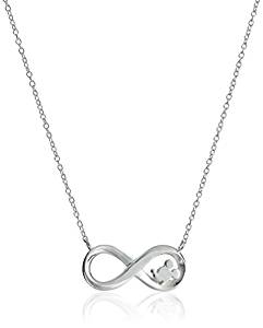 """Disney Sterling Silver Laughter Is Timeless Dreams Are Forever Pendant Necklace, 18"""""""