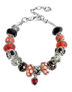 """Eliana and Eli Mother Daughter Friendship Charm Bracelet Jewelry -""""Believe in Magic- European Beads Charms Bracelet Gift"""