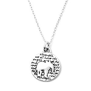 Kevin N Anna Inspirational Sterling Silver Animal Pendant Necklace, 18""