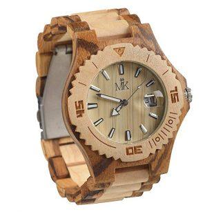 Maui Kool Wooden Watch Lahaina Collection For Men Women Unisex Analog Wood Watch Bamboo Gift Box
