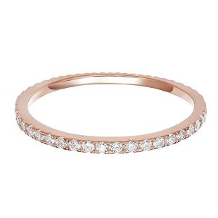 PAVOI 14K Gold Plated Sterling Silver CZ Simulated Diamond Stackable Ring Eternity Bands Women