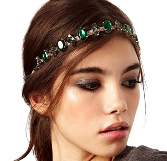 LittleB Baroque Headbands Jewelry Rhinestone&Alloy Hair Chain For Women and Girl