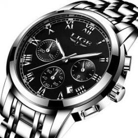 Watch,Mens Watches,Mens Luxury Fashion Stainless Steel Casual Waterproof Chronograph Quartz Wrist Watch
