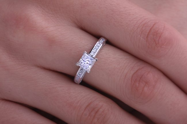 princess cut engagement bands