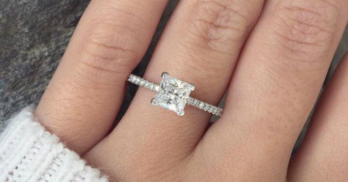 Princess Cut Engagement Rings Affordable Selection
