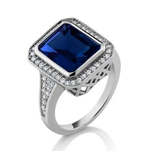 5.00 Ct Vintage simulated sapphire ring