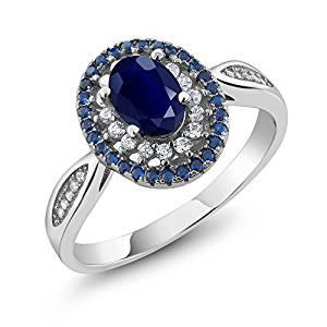 Blue Sapphire 925 Sterling Silver Oval Cut