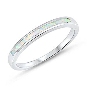 SAC SILVER CHOOSE YOUR COLOR Sterling Silver Wedding Ring
