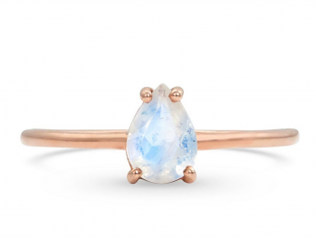 View Details Moon Magic 14kt Rose Gold Vermeil Moonstone Ring - Yonder Glow