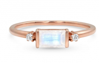 14kt Rose Gold Vermeil Moonstone Ring - Poshness