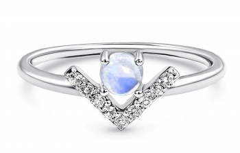 Moonstone / White Topaz Ring - Highness