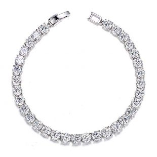 UMODE Jewelry 0.5 Carat Round Cut Clear Cubic Zirconia CZ Tennis Bracelet For Woman