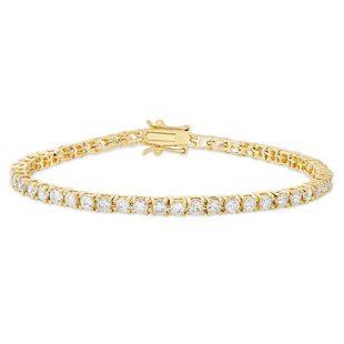 "Victoria Townsend Round Cubic Zirconia Classic Tennis Bracelet, 7.25"""