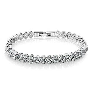 Zealmer Shoopic AAA Cubic Zirconia Tennis Bracelet Hand Chain for Women 6.5""