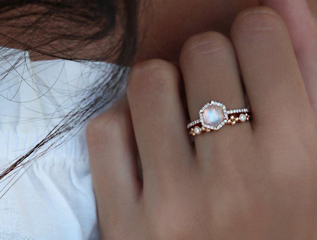 beautiful moonstone ring
