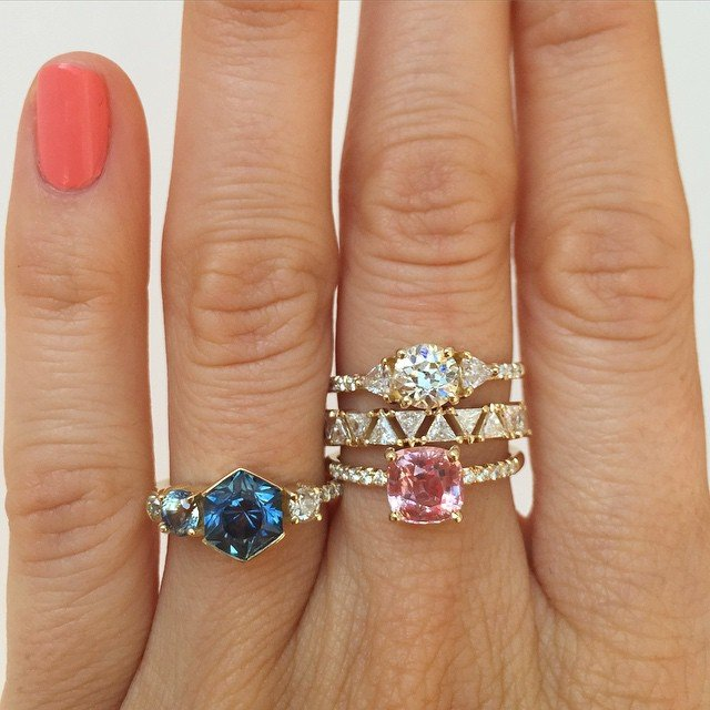 sparkly rings