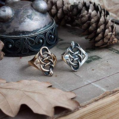 School of the viper ring, snake ring, gothic ring, silver or bronze, handmade, occult, witch