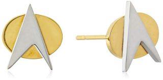 Star Trek Stainless Steel Stud Earrings