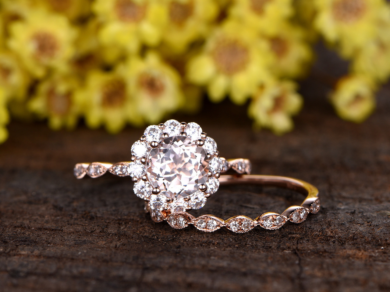 a351112b5745d Flower Engagement Rings - Lotus, Daisy, Black Rose and More | JJ