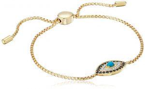 Amazon Collection Evil Eye Bolo Adjustable Bracelet