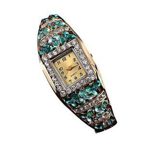 Creazy Women Quartz Luxury Crystal Flower Bracelet Watch