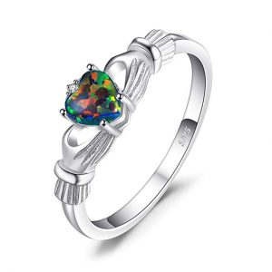 JewelryPalace Diamond Birthstone Promise Ring 925 Sterling Silver
