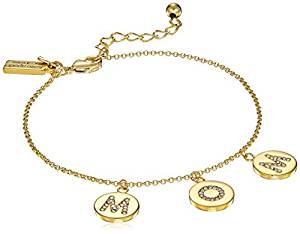 "Kate Spade New York ""Pave Mom Charm Bracelet Mom Knows Best Pave Mom Charm Clear/Gold Bracelet"