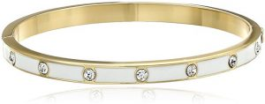 Kate Spade New York Set in Stone Enamel Glass Stone Hinged Bangle Bracelet