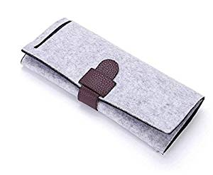 MEBOX Travel Jewelry Storage Bag Portable Jewelry Roll Bag Clutch Bag for Necklace, Earrings, Bracelets, Rings Jewelry Organizer Bag Case Lightweight,Easy to Carry
