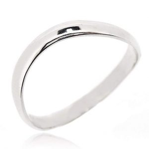 SOVATS Chic Thumb Ring For Women 925 Sterling Silver Rhodium Plated - Simple, Stylish &Trendy Nickel Free Ring