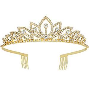 Wedding Tiara with Comb Bridal Shining Rhinestones Crystal Headband Pageant Princess Bridal Prom Decoration Party Wear
