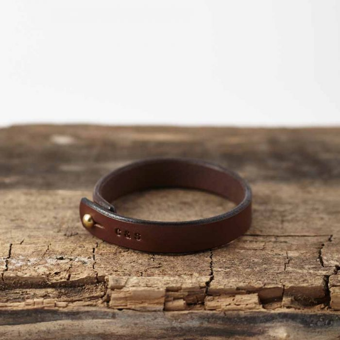 brown leather bracelety