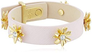 Kate Spade New York Dazzling Daisies Leather Bracelet 5.0 out of 5 stars 2 customer reviews Price: $100.00 + $6.20 shipping Get $10 off instantly: Pay $90.00 upon approval for the Amazon Prime Store Card. Color: Light Blush Cuff bracelet in saffiano leather featuring gold-plated daisy charms with round Swarovski centerpieces Pin with notch closure Imported New (1) from $100.00 + $6.20 shipping Report incorrect product information. See product specifications Ad feedback Free Two-Day Shipping for College Students with Amazon Student Share Facebook Twitter Pinterest