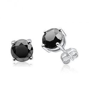 1/2-10 Carat Black Diamond Studs