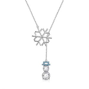 LINLIN FINE JEWELRY 925 Sterling Silver Cz SnowflakeLariat Necklaces