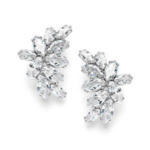 2. Mariell Cubic Zirconia Marquis-Cut Clusters