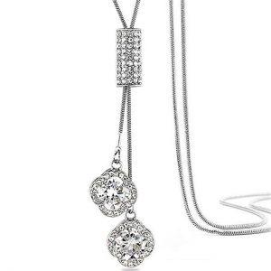 Z-Jeris Women's Crystal Flower Jewelry Tassel