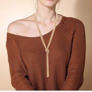 VUJANTIRY Long Sweater Lariat Necklace