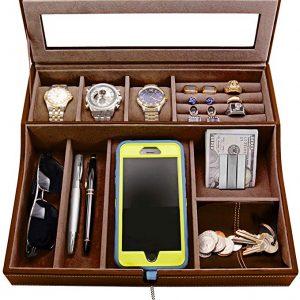 HOUNDSBAY Navigator Big Dresser Valet Tray - Men's Jewelry Box