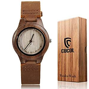 Bamboo and Leather Watch by CUCOL