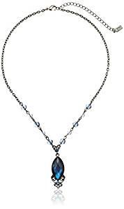 Blue Hematite-Toned Pendant