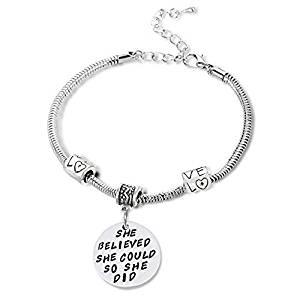 Book Quote Charm Bracelet