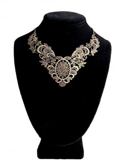 Filigree and Paisley Bib Necklace