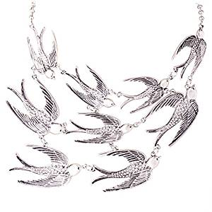 Flock of Swallows Bib Necklace